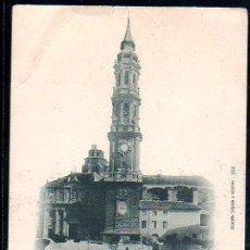 Postales: TARJETA POSTAL DE ZARAGOZA - IGLESIA DE LA SEO. 232. HAUSER Y MENET. . Lote 30796343