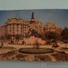 Postales: POSTAL; ZARAGOZA , MONUMENTO A LOS SITIOS, ESCRITA SIN SELLO, AÑO 1958. Lote 31241851