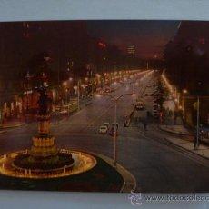Postales: POSTAL; ZARAGOZA - PASEO DE LA INDEPENDENCIA - NOCTURNA, CIRCULADA CON SELLO, AÑO 1967. Lote 31245519