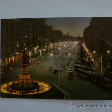 Postales: POSTAL; ZARAGOZA - PASEO DE LA INDEPENDENCIA - NOCTURNA, ESCRITA SIN SELLO, AÑO 1966. Lote 31245561