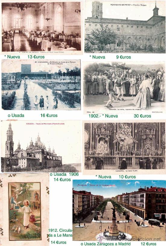 ZARAGOZA Y PROVINCIA.- TARJETA P. E HISTORIA POSTAL. VER FOTOS ADICIONALES (Postales - España - Aragón Antigua (hasta 1939))