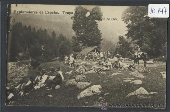HECHO - EXPLORADORES TROPA DE ZARAGOZA EN EL BOSQUE DE OZA -FOTOGRAFICA - (10.147) (Postales - España - Aragón Antigua (hasta 1939))