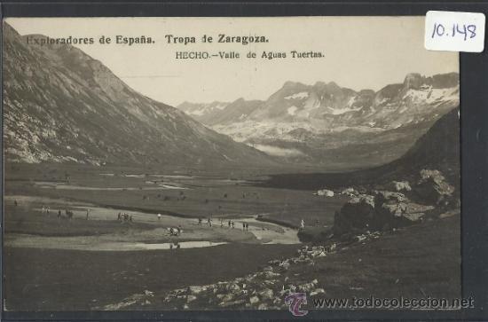 HECHO - EXPLORADORES TROPA DE ZARAGOZA VALLE DE AGUAS TUERTAS -FOTOGRAFICA - (10.148) (Postales - España - Aragón Antigua (hasta 1939))