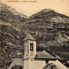 Postales: CANFRANC. (HUESCA). PLAZA E IGLESIA. SAMSOT Y MISSE HNOS.. Lote 31843638
