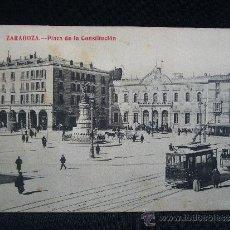 Postales: POSTAL. PLAZA DE LA CONSTITUCIÓN. FOT. MADRIGUERA. ZARAGOZA. AÑO 1910.. Lote 31891527
