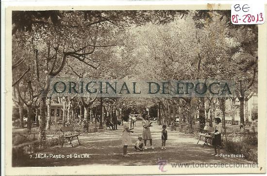 (PS-28013)POSTAL FOTOGRAFICA DE JACA-PASEO DE GALAN (Postales - España - Aragón Antigua (hasta 1939))
