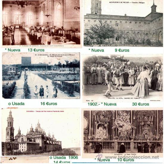 T.P. ZARAGOZA Y PROVINCIA Y TEMA GOYA. 71 PIEZAS, P.VENTA INDIVIDUAL 446 €. VER FOTOS Y CONDICIONES (Postales - España - Aragón Antigua (hasta 1939))