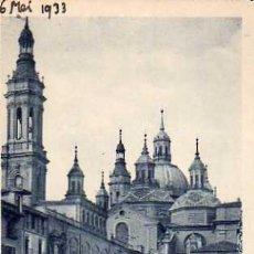 Postales: ZARAGOZA Nº 35 EL PILAR DESDE LA RIBERA SIN CIRCULAR . Lote 32792668