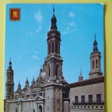 Postales: POSTAL DE ZARAGOZA. AÑO 1967. CATEDRAL BASÍLICA DEL PILAR. 1367. . Lote 32938985