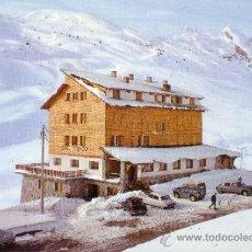 Postales: CANFRANC CANDANCHU - HUESCA - HOTEL TOBAZO - MACIZO DE ASPE Y PISTAS. Lote 34046619