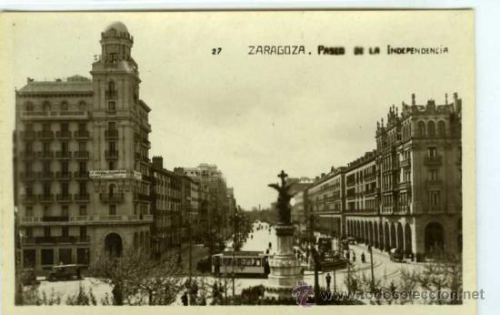 POSTAL ZARAGOZA PASEO DE LA INDEPENDENCIA (Postales - España - Aragón Moderna (desde 1.940))