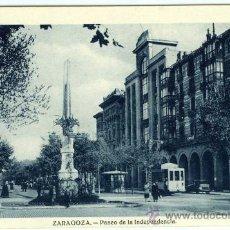 Postales: POSTAL ZARAGOZA PASEO DE LA INDEPENDENCIA. Lote 34028455