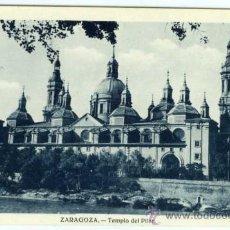 Postales: POSTAL ZARAGOZA TEMPLO DEL PILAR. Lote 34028801