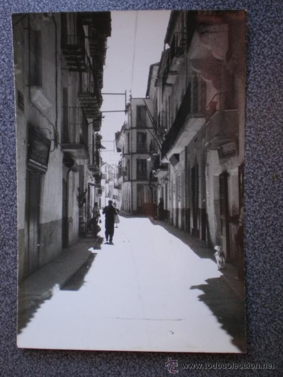 POSTAL VALDERROBRES TERUEL CALLE JOSÉ ANTONIO (Postales - España - Aragón Antigua (hasta 1939))