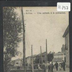 Postales: ARIZA -10- UNA ENTRADA A LA POBLACION - VDA. DE M. SANTANDER - (11.737). Lote 34620705