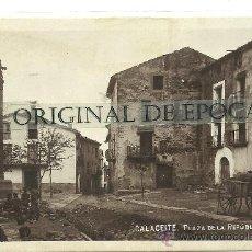 Postales: (PS-30487)POSTAL FOTOGRAFICA DE CALACEITE-PLAZA DE LA REPUBLICA. Lote 35291150