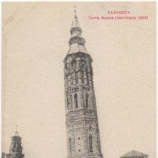 Postales: ZARAGOZA.- TORRE NUEVA (DERRIBADA EN 1893).. Lote 35338985