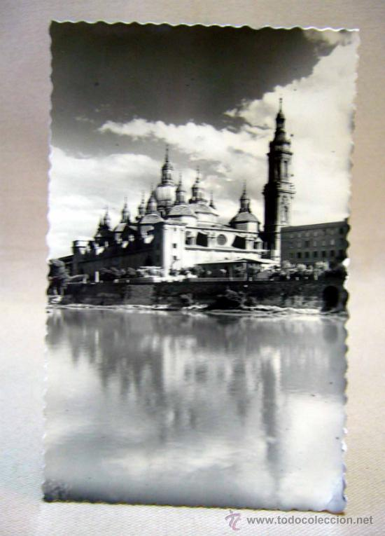POSTAL, FOTO POSTAL, TROQUELADA, ZARAGOZA, BASILICA DEL PILAR, LUJO (Postales - España - Aragón Moderna (desde 1.940))