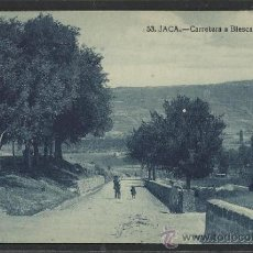 Postales: JACA - 53 - CARRETERA A BIESCAS -EDICION F.H. -(12.836). Lote 35428799