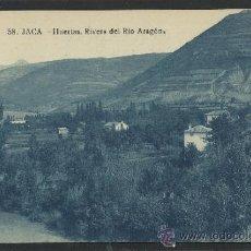 Postales: JACA - 58 - HUERTAS RIVERA DEL RIO ARAGON -EDICION F.H. -(12.840). Lote 35428852