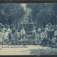Postales: JACA - 42 - UNA FUENTE DEL PASEO -EDICION F.H. -(12.846). Lote 35428924