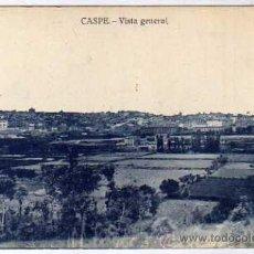Postales: ZARAGOZA. CASPE. VISTA GENERAL EDITOR M. PELLICER. SIN CIRCULAR.. Lote 35433924