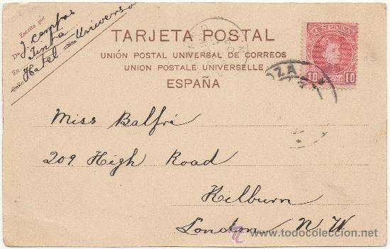 Postkarten: ZARAGOZA.- PUENTE DE PIEDRA SOBRE EL RÍO EBRO. (C.1900). - Foto 2 - 35459087