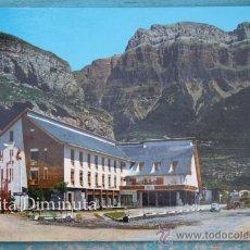 Postales: ANTIGUA POSTAL DE TORLA - HUESCA - HOTEL ORDESA - ENTRADA AL CAMPING - NO CIRCULADA . Lote 35478232