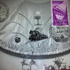 Postales: POSTAL TARJETA MAXIMA RENFE DIA PENSIONISTA FERROVIARIO RENFE - ZARAGOZA 1973 MANTO VIRGEN DEL PILAR. Lote 35532245