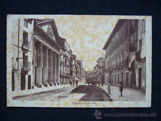 POSTAL HUESCA. COSO ALTO. (Postales - España - Aragón Moderna (desde 1.940))