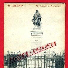 Postales: POSTAL ZARAGOZA, MONUMENTO A PIGNATELLI, P74936. Lote 35636012