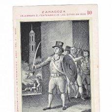 Postales: SITIOS DE ZARAGOZA -MARIANO ZEREZO - CENTENARIO 1908 - Nº 10. Lote 35818356