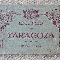 Postales: RECUERDO DE ZARAGOZA, BLOC DE TARJETAS POSTALES. Lote 35868992