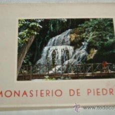 Postales: DESPLEGABLE CON 10 POSTALES MONASTERIO DE PIEDRA (ZARAGOZA). Lote 35880599