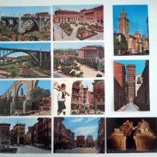 Cartes Postales: 11 POSTALES POSTAL TERUEL. AÑOS 60. PLAZA TORICO.. Lote 35924663