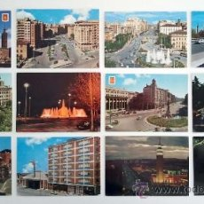 Postales: 12 POSTALES POSTAL CIUDAD DE ZARAGOZA. AÑOS 60. Lote 35927753