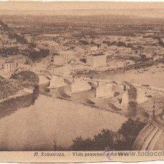 Postales: ZARAGOZA.- VISTA PANORÁMICA DEL EBRO.. Lote 35951575