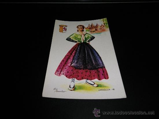 POSTAL DE ZARAGOZA. N.º 40. DIBUJO DE ELSI GUMIER. ¿1959? (Postales - España - Aragón Antigua (hasta 1939))