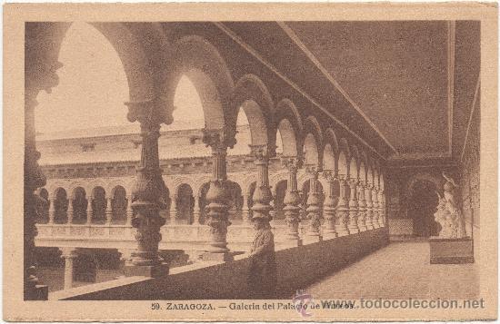 ZARAGOZA.- GALERÍA DEL PALACIO DE MUSEOS. (Postales - España - Aragón Antigua (hasta 1939))