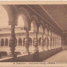 Postales: ZARAGOZA.- GALERÍA DEL PALACIO DE MUSEOS.. Lote 36063811