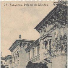 Postales: ZARAGOZA.- PALACIO DE MUSEOS.. Lote 36066293