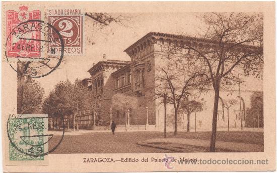 ZARAGOZA.- EDIFICIO DEL PALACIO DE MUSEOS. (C.1935). (Postales - España - Aragón Antigua (hasta 1939))