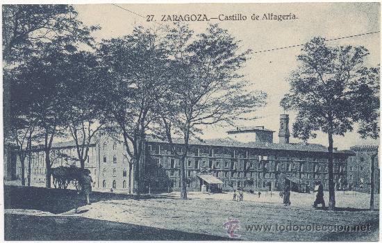 ZARAGOZA.- CASTILLO DE LA ALJAFERÍA. (Postales - España - Aragón Antigua (hasta 1939))
