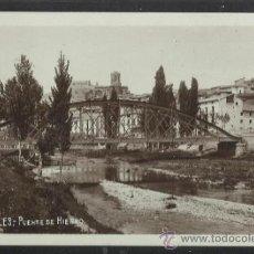 Postales: VALDERROBLES - PUENTE DE HIERRO - FOTOGRAFICA - (13.607). Lote 36128550