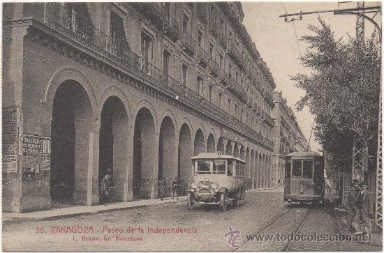ZARAGOZA.- PASEO DE LA INDEPENDENCIA. (Postales - España - Aragón Antigua (hasta 1939))