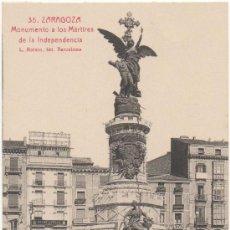 Postais: ZARAGOZA.- MONUMENTO A LOS MÁRTIRES DE LA INDEPENDENCIA.. Lote 36130522