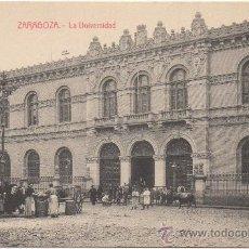 Postales: ZARAGOZA.- LA UNIVERSIDAD.. Lote 36132606