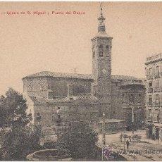 Postales: ZARAGOZA.- IGLESIA DE SAN MIGUEL Y PUERTA DEL DUQUE.. Lote 36262833