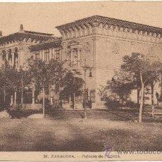 Postales: ZARAGOZA.- PALACIO DE MUSEOS.. Lote 36304199