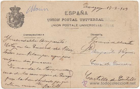 Postales: ZARAGOZA.- TORRE NUEVA (DERRIBADA). - Foto 2 - 36416782